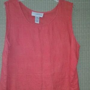 100% linen summer sleeveless top